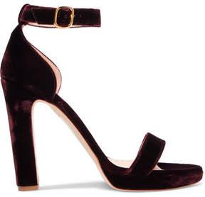 Rupert Sanderson Preciosa Velvet Sandals - Claret
