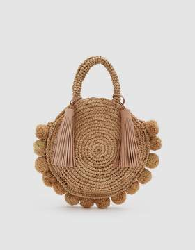 Loeffler Randall Straw Circle Tote in Natural