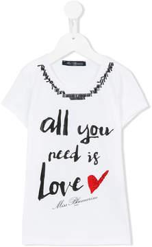 Miss Blumarine 'All You Need Is Love' T-shirt