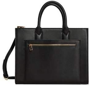 MANGO Zip shopper bag