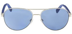 Just Cavalli Jc728s 5816w Silver Aviator Sunglasses.