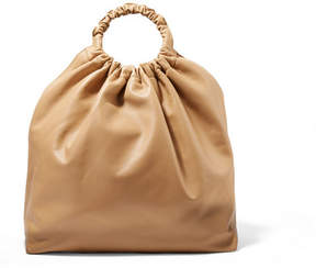 The Row Double Circle Xl Leather Tote - Beige