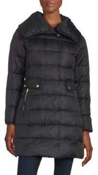 Cole Haan Asymmetric Down Puffer Coat
