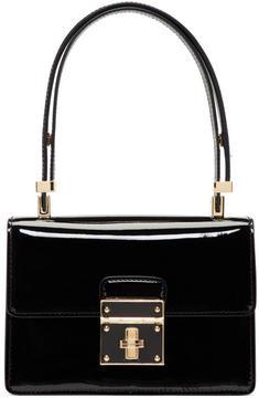 Dolce & Gabbana Black Mini Flap Lock Bag