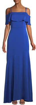 Shoshanna Embarcadero Cold-Shoulder Gown