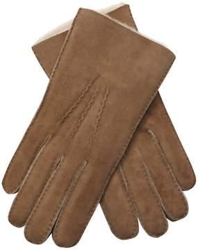 Portolano Men's Embossed Shearling Gloves