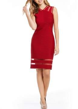 Tadashi Shoji Illusion Banded Dress