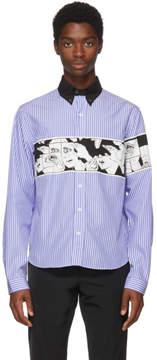 Prada Blue Striped Eyes Shirt