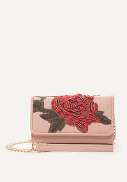 Bebe Sofia Embroidered Wallet