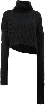 Ann Demeulemeester cropped turtle neck sweater