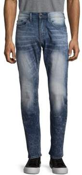 Buffalo David Bitton Mid-Rise Washed Jeans