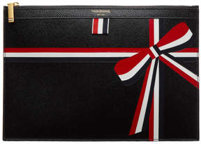 Thom Browne Black Bow Document Pouch