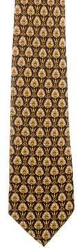 Gianni Versace Fleur Des Lis Print Silk Tie