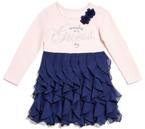 GUESS Ruffle Two-Fer Dress (2-7)