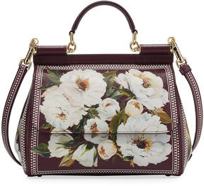 Dolce & Gabbana Sicily Medium Floral-Print Bag