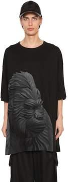 Juun.J Gorilla Printed Cotton Jersey T-Shirt