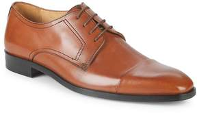 Saks Fifth Avenue Made in Italy Men's Leather Cap Toe Derby Shoes