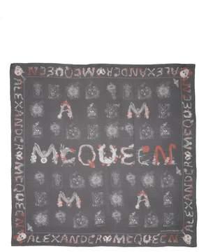 Alexander McQueen Cabinets Silk Chiffon Scarf