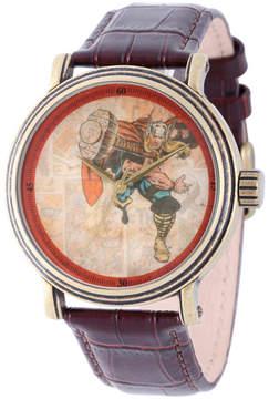 Marvel Mens Brown Strap Watch-Wma000196