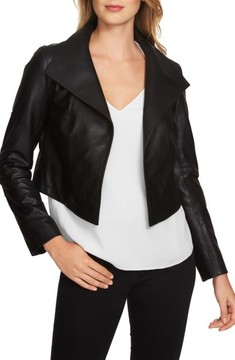 1 STATE Women's 1.state Crop Faux Leather Jacket