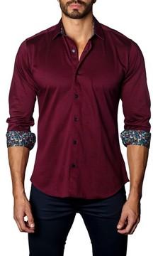Jared Lang Men's Trim Fit Jewel Tone Sport Shirt