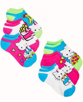Hello Kitty Princess 6-Pack No-Show Socks, Little Girls & Big Girls