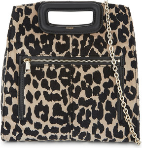 Maje Leopard print shoulder bag