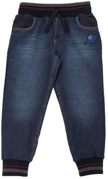 Dolce & Gabbana Cotton Sweatpants W/ Denim Effect