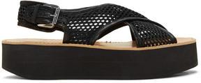 Flamingos Black Mesh Malabar Sandals