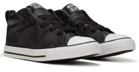 Converse Kids' Chuck Taylor All Star Street Mid Top Leather Sneaker