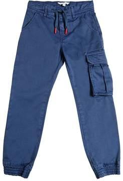 Little Marc Jacobs Stretch Cotton Gabardine Cargo Pants
