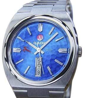 Rado Purple Gazelle Stainless Steel Automatic 35mm Mens Watch 1970s