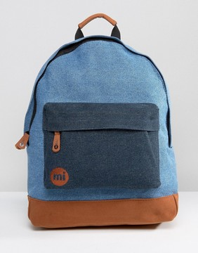 Mi-Pac Mi Pac Classic Denim Bacpack with Contrast Tan