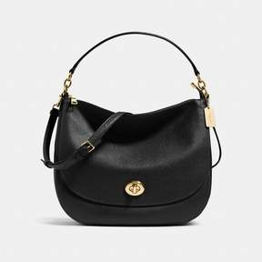 COACH Coach New YorkCoach Turnlock Hobo - LIGHT GOLD/BLACK - STYLE