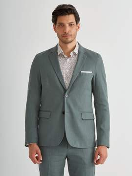 Frank and Oak The Laurier Twill Linen 2-Button Blazer in Green