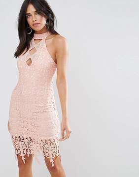 AX Paris Blush Crochet Midi Dress