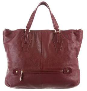 Halston Large Leather Tote Bag