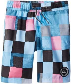 Quiksilver Resin Check Volley Shorts Boy's Swimwear