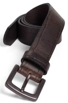 Bosca Men's Gator Embossed Belt