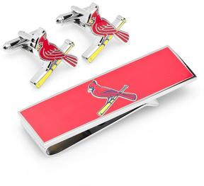 Ice St. Louis Cardinals Cufflinks and Money Clip Gift Set