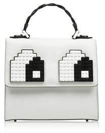 Les Petits Joueurs Women's White Leather Handbag.