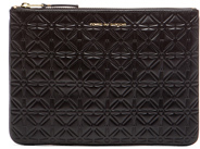Comme des Garcons Star Embossed Pouch in Black.