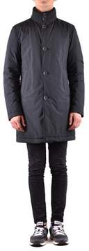 Herno Men's Blue Polyamide Coat.