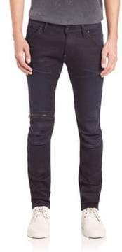 G Star 5620 3D Skinny Zip Knee Jeans