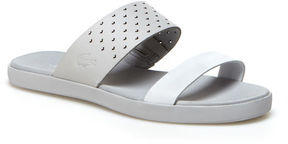 Lacoste Women's Natoy Color Block Leather Slide Sandals