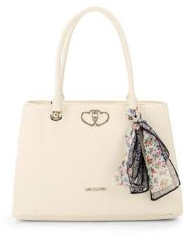 Love Moschino Textured Tie Scarf Tote