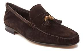 Gucci Men's Suede Tassle Loafer Shoes Dark Brown.