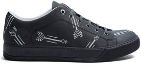 Lanvin Arrow-embroidered leather low-top trainers