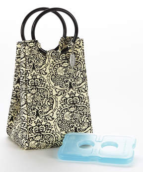 Fit & Fresh Black & White Retro Insulated Lunch Bag & Ice Pack Set