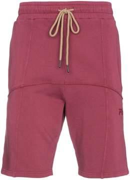 Fila Liam Hodges x logo embroidered cotton shorts